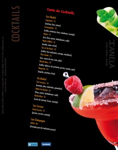 carta de cocktails